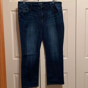 Lee straight leg jeans size 18short